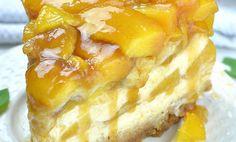 💛 Peach Cobbler Cheesecake Recipe 😍