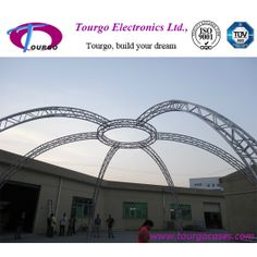 Arc aluminum truss system for event