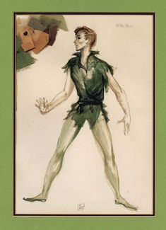 Dorothy Jenkins Costume Sketch for Mary Martin from Peter Pan