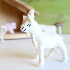 Gluckskafer felt nanny goat by Gluckskafer - Cottontails