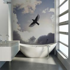 Rebel Walls foto behang interiors wallpaper behang woonkamer behang slaapkamer #trendy #interieurtrends free-as-a-bird