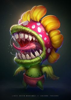 Kai Fine Art is an art website, shows painting and illustration works all over the world. Weird Creatures, Fantasy Creatures, Character Art, Character Design, Design Creation, Design Digital, Little Shop Of Horrors, Creature Drawings, Plants Vs Zombies