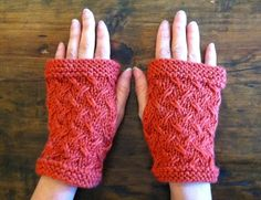 Wild Oats Fingerless Mitts | AllFreeKnitting.com