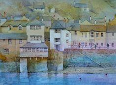 Mousehole Cornwall by Malcolm Coils - Finished off an old demonstration watercolour painting which has been lying around for ages Watercolor Projects, Watercolour Painting, Watercolours, Mousehole Cornwall, Fear Of Flying, Sky Art, Watercolor Animals, Art Blog, Painting Inspiration