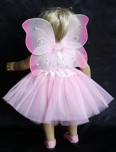 18 in. American Girl Doll 4 piece Fairy, Tutu Outfit