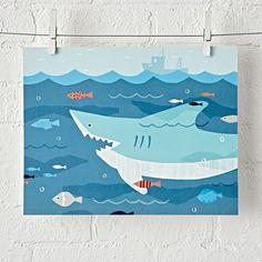Shark Unframed Wall Art