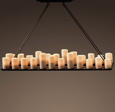 Pillar Candle Chandelier