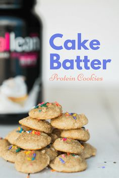 Cake Batter Protein Cookies