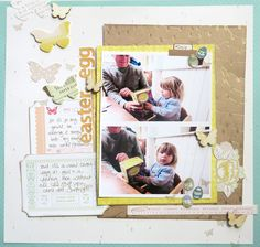 paper: pretty paper. true stories. {and scrapbooking classes with cupcakes.}: A simple stamping technique for your scrapbook