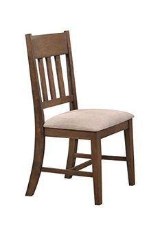 ACME Furniture 73062 Ulysses Weathered Oak  Cream Fabric Side Chair Set of 2 >>> Read more  at the image link. #Wooden