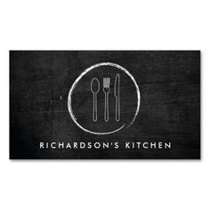 FORK SPOON KNIFE SKETCH LOGO for Catering, Chef... Business Card. This is a fully customizable business card and available on several paper types for your needs. You can upload your own image or use the image as is. Just click this template to get started!
