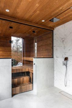 Sauna Design, Cabin Design, House Design, Sauna House, Sauna Room, Modern Saunas, Log Home Living, Wooden House, Log Homes