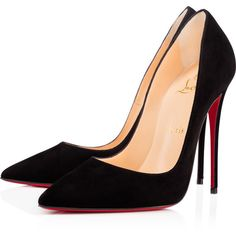Christian Louboutin So Kate (€565) ❤ liked on Polyvore featuring shoes, pumps, heels, christian louboutin, louboutin, black, black high heel pumps, black pointy-toe pumps, high heel pumps and black pointed toe pumps
