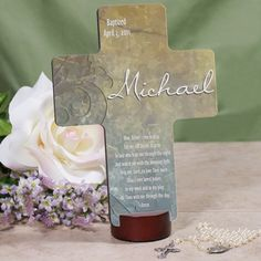Baptized, Christened or First Communion gift idea...  Poem Reads:  Now before I run to play, let me not forget to pray to my God who kept me Through the night and woke me with the morning light. Help me Lord to love thee more than I have ever loved before. In my work and in my play please be with me throughout the day. Amen.