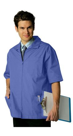 This Short Sleeved Office Jacket Is A Great Alternative To The Traditional  Lab Coat.