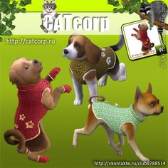 Knitted sweater for small dogs by Catcorp - Sims 3 Downloads CC Caboodle