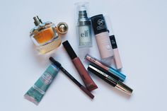 Makeup is good for the soul (elf primer, revlon foundation, loreal foundation, elf eyeshadow, essence eyeshadow, elf concealer & highlighter, l'oreal mascara, l'oreal lipstick, elie saab, girl of now, l'occitane, hand cream).  Click the link to see the products.