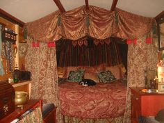 Bohemian Gypsy Style Bedroom You Will Love. Bohemian gypsy style bedroom are hype today. Bohemian word has actually been known for a long time. Initially, the term was used to describe non-tradi. Gypsy Trailer, Gypsy Caravan, Gypsy Wagon, Gypsy Bed, Bohemian Gypsy, Gypsy Décor, Gypsy Life, Gypsy Soul, Caravan Decor