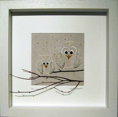 Art by Mary Whelan. Mosaic Art and Contemporary Embroidery. Customized hand stitched embroidery pieces which make fabulous gifts for all occasions. Hand Embroidery Stitches, Hand Stitching, Contemporary Embroidery, Maid Of Honour Gifts, Cute Owl, Mosaic Art, Wedding Gifts, Diy Crafts, Quilts