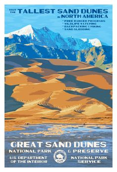 Great Sand Dunes National Park & Preserve   National Park Posters