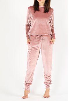 Femmes Haut en jersey et pantalon ensemble Lounge Wear Femmes sommeil nuit Costume Pajama Set UK