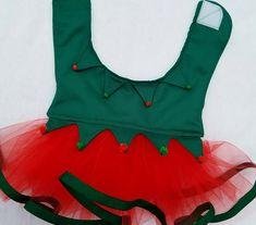 Adorable Elf Dog Dress Costume-Santa's Helper by @K2Kreates #DogClothes #petcostumes #PuppyDress #ChristmasDog #Tutus #holidaydogs #dogdresses  on Etsy.