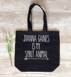 Joanna Gaines Tote Bag  Joanna Gaines is my Spirit by KitchStudios