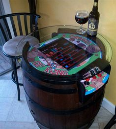 How to make a retro Donkey Kong beer table