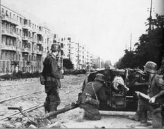 German soldiers on the street of Rostov-on-Don, 1942