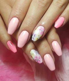 #nails #pastel #naildesign #pinks #pink #nailart #gelish #hybrid #handpainted #floral #cute #spring #pastel