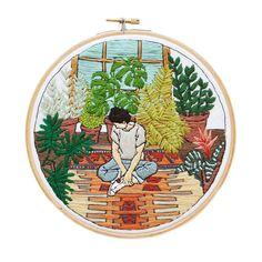 Sarah K Benning, embroiderer