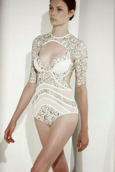 Zimmermann Resort 2014 Good Love Embroidered Swimsuit And Coverup