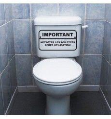 1 x 2 forcé Autocollant WC toilettes TOILETTES HOMME FEMME toilettes TOILETTES DECO drôle