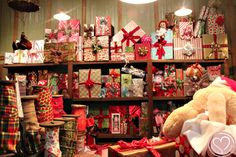 Stage Design - Santa's Workshop [perhaps backdrop idea? Office Christmas Decorations, Christmas Window Display, Christmas Party Themes, Christmas Tree Farm, Christmas Store, Christmas 2017, All Things Christmas, Vintage Christmas, Christmas Crafts