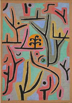 ByPaul Klee (1879-1940), 1938, Park near Lu, Tate Modern.