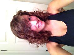 Curly short hair