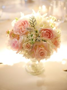 #centerpiece, #rose  Photography: Lane Dittoe Fine Art Photographs - lanedittoe.com  Read More: http://stylemepretty.com/2013/09/10/santa-barbara-wedding-from-lane-dittoe-fine-art-photographs/