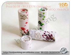 2011 attractive delicate cosmetic paper tube packaging