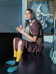 Sasha Pivovarova by Sebastian Kim for Vogue Korea, May 2015