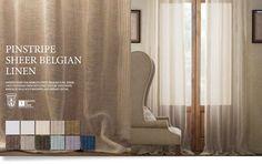 Restoration Hardware Linen Curtains | Pinstripe Sheer Belgian Linen
