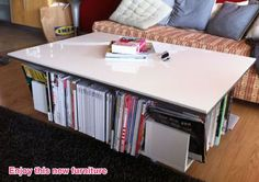 IKEA Hackers: Lillangen end unit as coffee table with storage