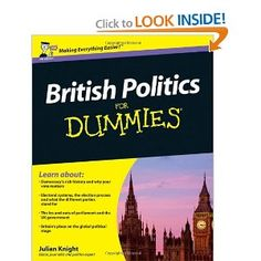 Price: $27.95 - British Politics For Dummies - TO ORDER, CLICK THE PHOTO