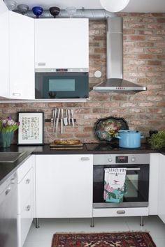 Tiiliseinä keittiössä | Unelmien Talo&Koti