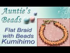 Click below to purchase the tools and materials used in this video - http://www.auntiesbeads.com/Kumihimo-Episode-8-Flat-Braid-with-Beads-Bracelet-_p_29400.h...