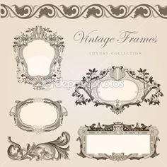Vintage Vektor Rahmen Rahmen. Stock-Vektorgrafik © sellingpix #26738255