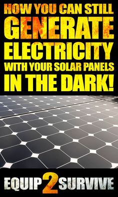 Did you know that you can generate electricity with your solar panels WITHOUT…