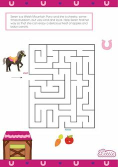 Seren the Welsh Mountain Pony Lottie doll maze game for kids #free #printables Download at www.lottie.com/create/