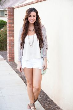 Chiffon low back tank top, white jeans, beach waves, Bellami hair extensions, sequin sandals, fashion blogger
