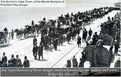 The arrival of the mortal remains of President Paul Kruger at the Cape Town docks, in 1904 Old Pictures, Old Photos, Durban South Africa, Most Beautiful Cities, Historical Pictures, My Land, African History, Cape Town, Live