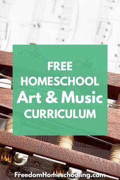 Freedom Homeschooling | Free Homeschool Art & Music Free Homeschool Curriculum, Preschool Education, Teaching Kids, Homeschooling Resources, Music For Kids, Home Schooling, Music Lessons, Speech And Language, Art Music